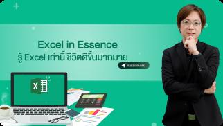 Excel in Essence รู้ excel เท่านี้ชีวิตดีขึ้นมากมาย